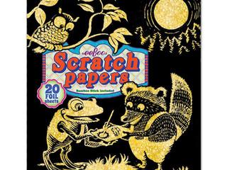 eeBoo Op-Art Foil Scratch Paper