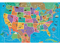 Re-marks 850-piece Map of USA