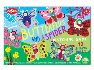 eeBoo Butterflies and a Spider Shaped Matching Game