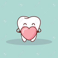 50760156-cute-cartoon-tooth-with-love-heart-great-for-your-design-Stock-Vector