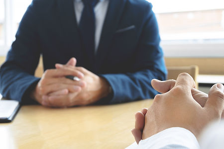 Job interview with human resource manage