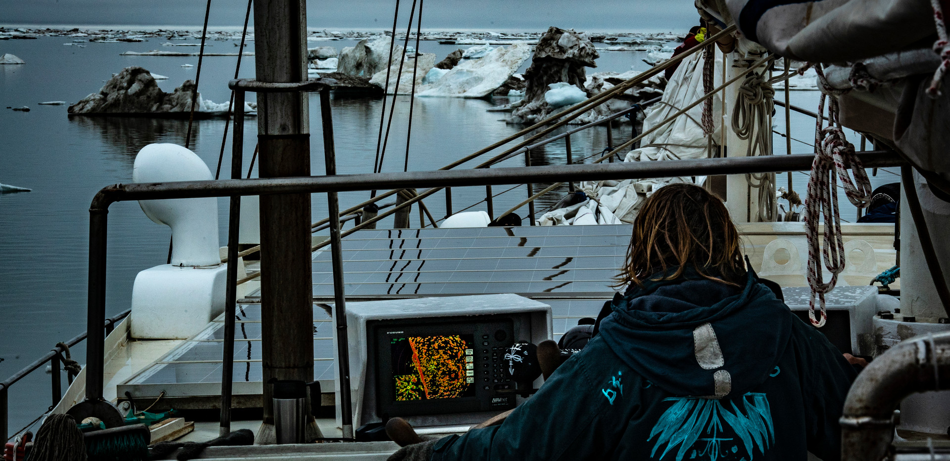 Caught in eternal ice as far as the eye (and radar) can see..