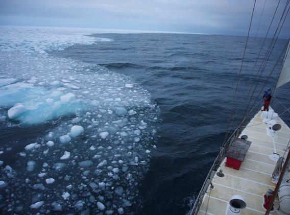 Reaching the ice edge. Photo Andy Jamiesson