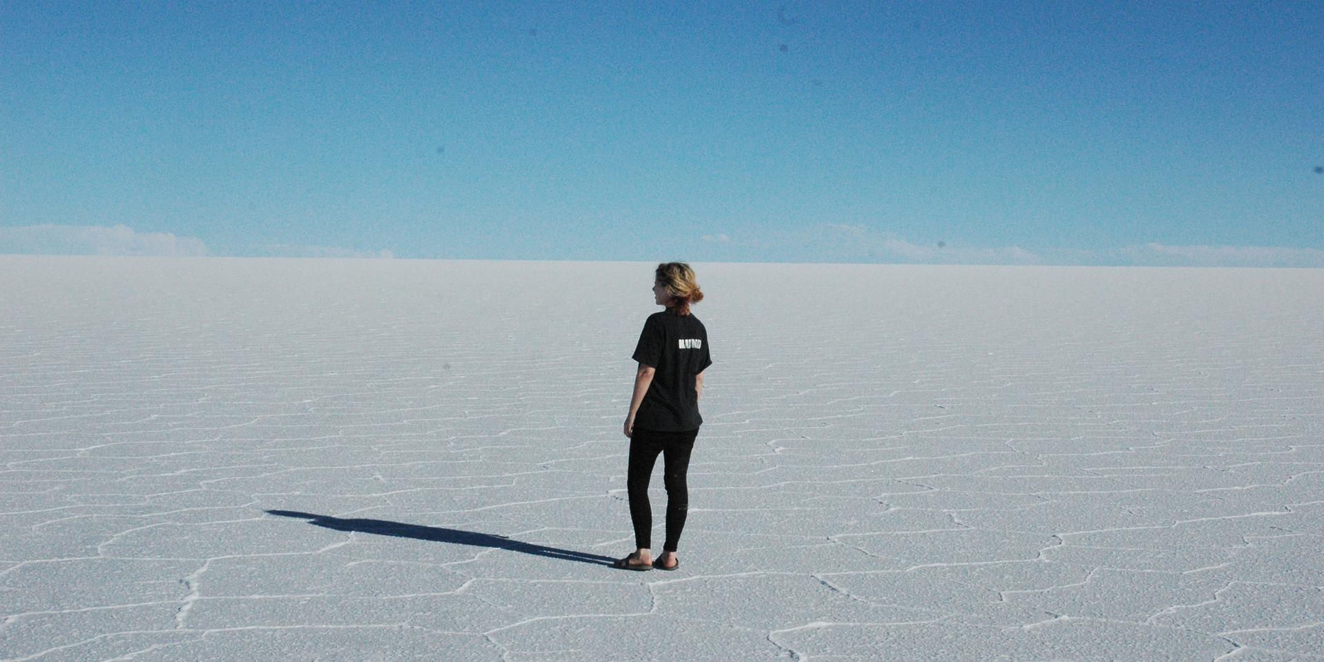 The Salt Desert of Uyuni