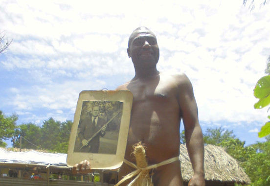 The head of the Prince Philip Cult in Yaohnanen, Island of Tanna