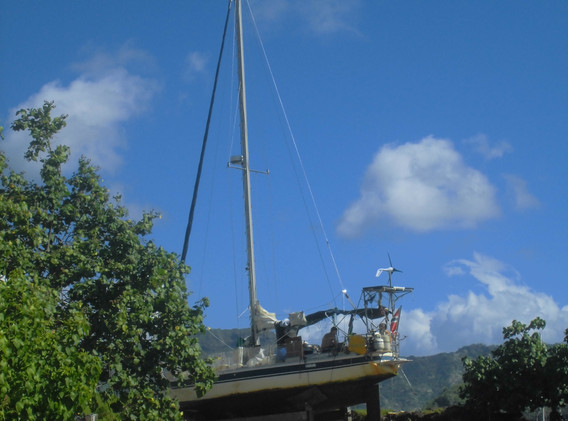 The French Polynesian way of hauling out, Island of Marquesas