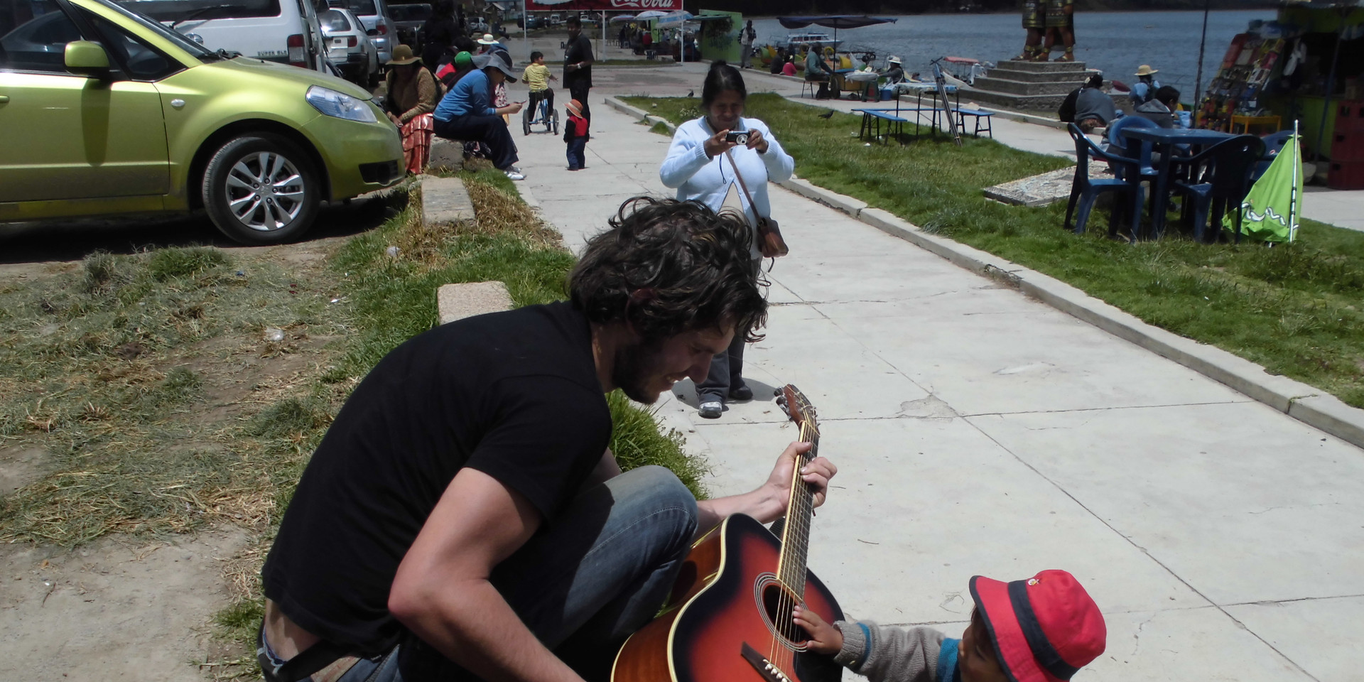 Guitar buddies. Lake Titicaca