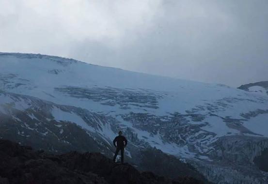 Glacier Cayambe, Ecuador