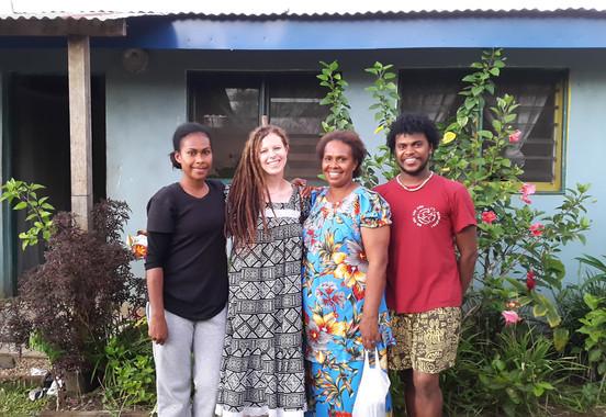 Charlotte's adoptive family in Vanuatu. Annie, Anna and David Louis