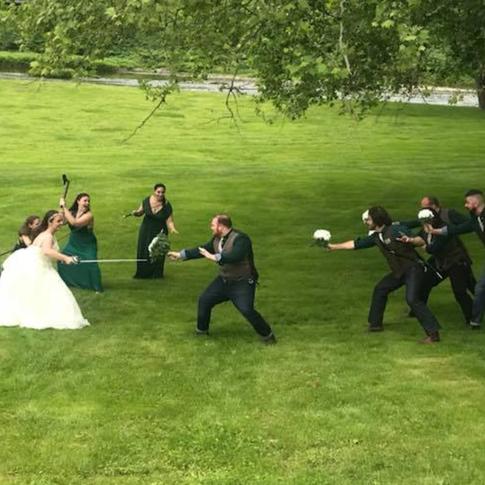 Bride & Groom Sword Fight