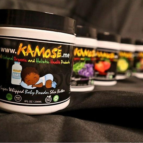 BABY POWDER SHEA BUTTER FROM (KAMOSE ALL NATURAL ORGANIC)