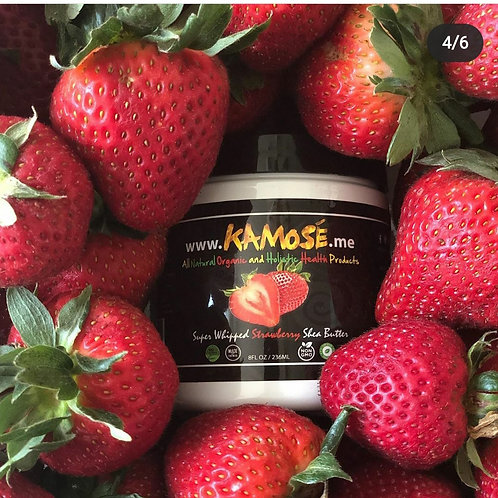 STRAWBERRY SHEA BUTTER FROM (KAMOSE ALL NATURAL ORGANIC)