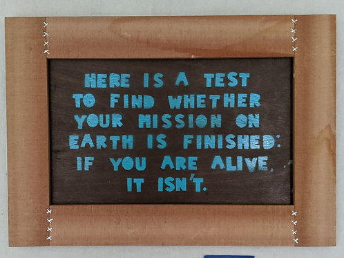 life mission quote art recycled materials