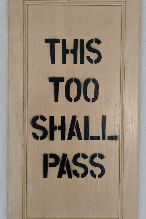 this too shall pass quote art recycled materials cabinet door