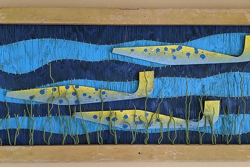 scrap wood guitar off cut offcut fish art recycled materials