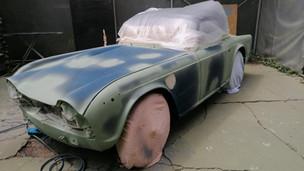 La restauration de notre Triumph TR4 A IRS