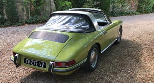 Une Porsche 912 Targa à la vente; un modèle unique