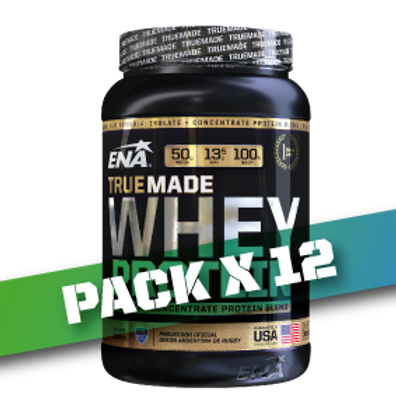 WHEY PROTEIN TRUE MADE x 2.05 LB (Pack x 12)