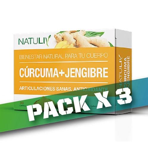 10% OFF CÚRCUMA+ JENGIBRE (Pack x 3)
