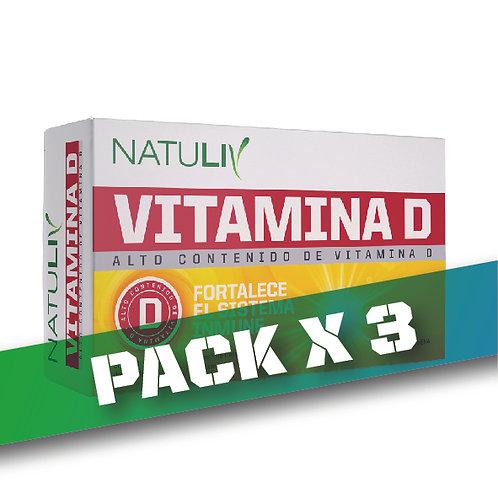 10% OFF - VITAMINA D NATULIV (Pack x3u)