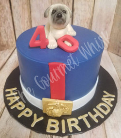 USMC MASTIFF BIRTHDAY CAKE