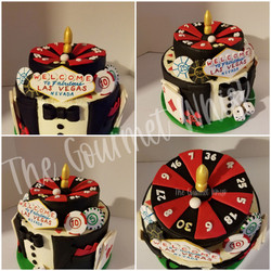 LAS VEGAS THEMED BIRTHDAY CAKE