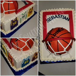 BASKETBALL JERSEY BIRTHDAY CAKE