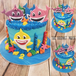 Baby Shark Birthday Cake