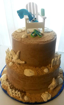 Sun and Sand Birthday Cake