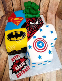 SUPERHERO BIRTHDAY CAKE 1