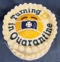 MASKED EMOJI BIRTHDAY CAKE
