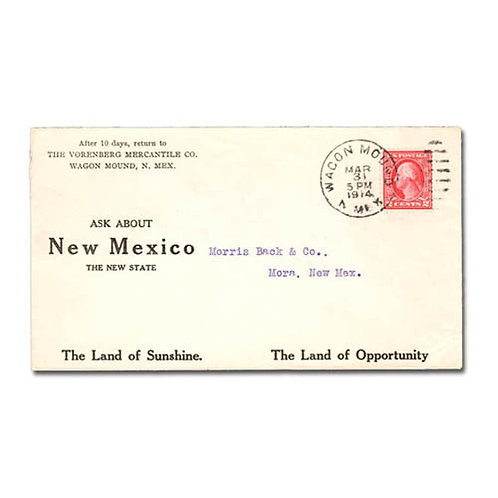 Advertising cover for Vorenberg Mercantile Co, New Mexico State