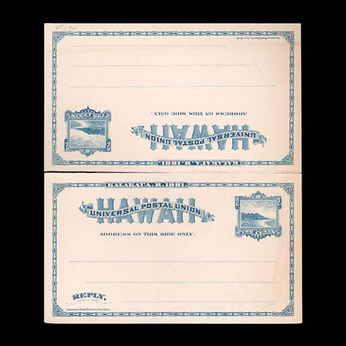 Hawaii, Paid Reply Postal Card, 1883
