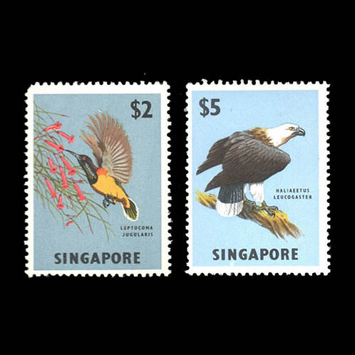 Singapore, 1963, Flora & Fauna definitives, 1¢-$5 complete