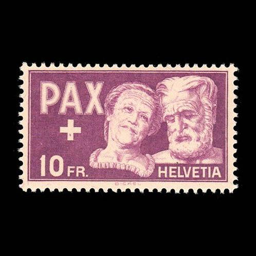 Switzerland, 1945, 10fr PAX