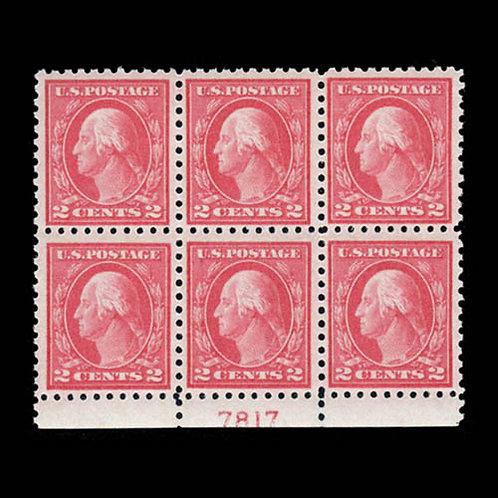 1916, 2¢ carmine