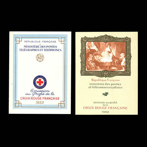 France, 1954-69, 10 unexploded Red Cross booklets