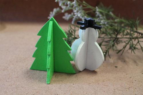 Snowman and Tree Decorations