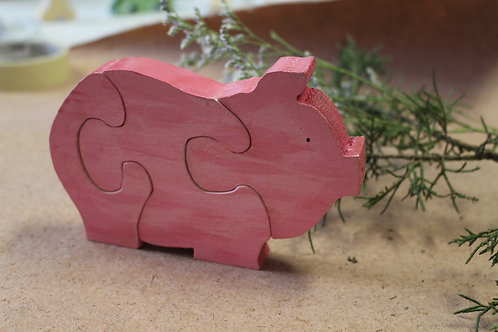 Children's Puzzle -Pig