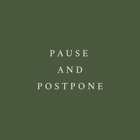 PAUSE & POSTPONE - Coronavirus and your wedding