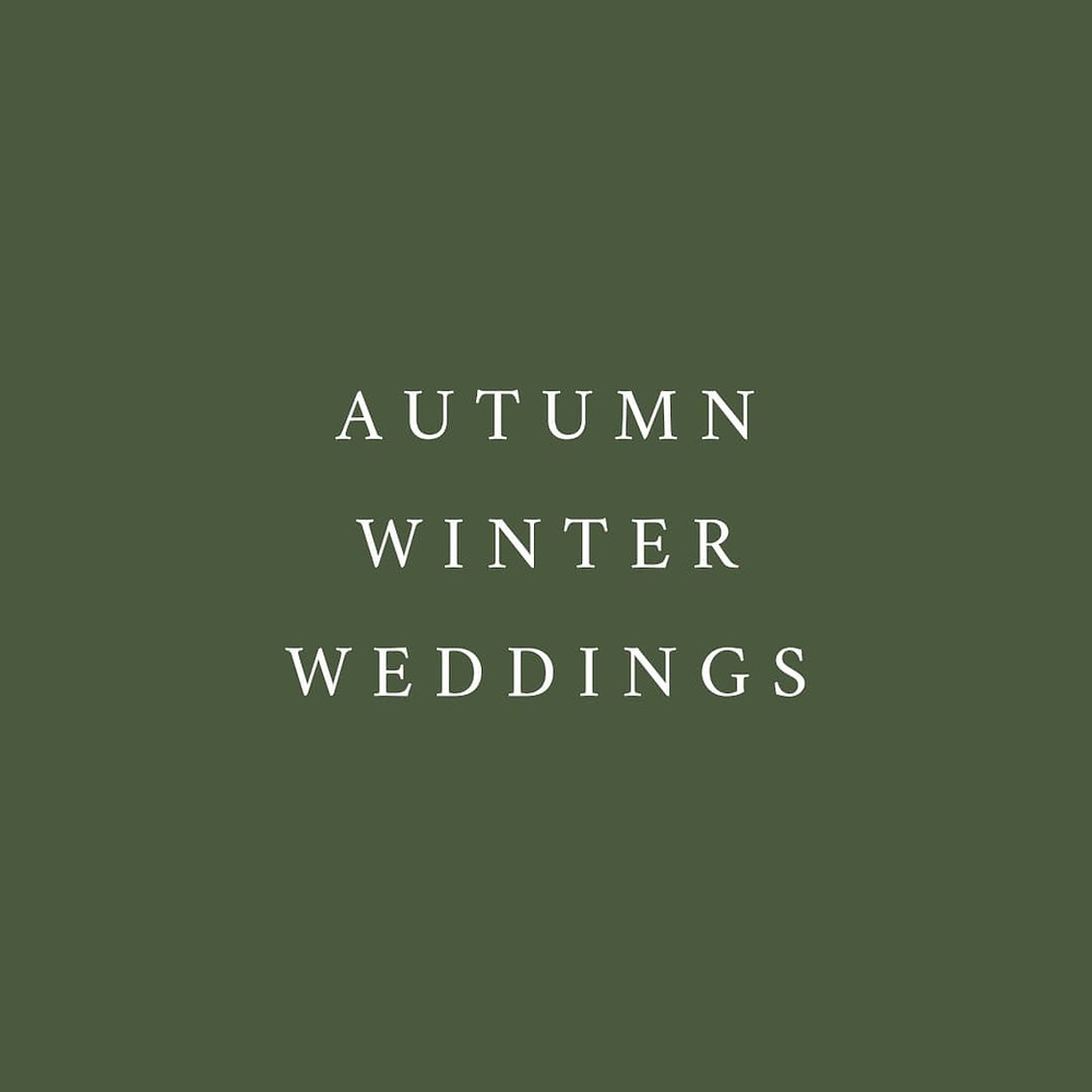 Found yourself planning an Autumn / Winter wedding due to Covid 19? Here's some top tips and Inspiration