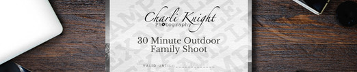 30 Minute Outdoor Family Shoot £75