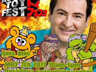 Greg Berg Attending Robo Toy Fest 2017!