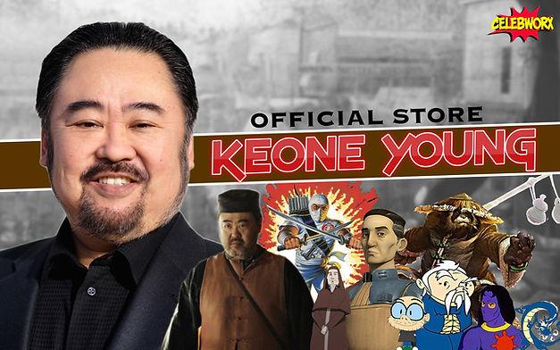 Keone Young CelebWorx Store Logo