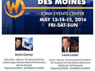 Loren Lester and Kevin Conroy Will Reunite At Wizard World Des Moines! May 13-15, 2016!