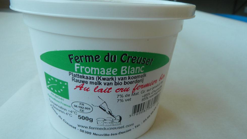 fromage blanc 500g au lait cru