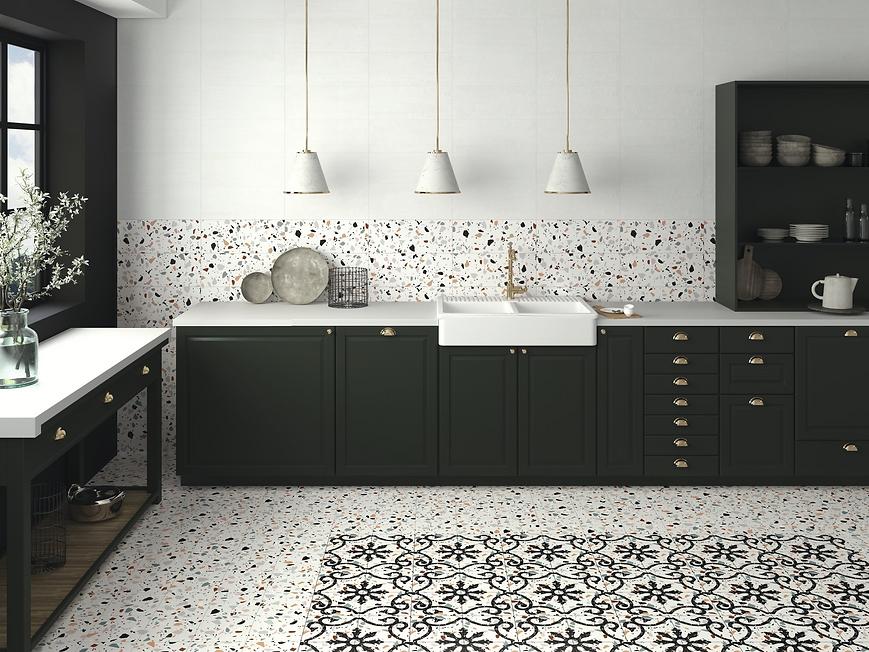 Terrazzo tiles in Kitchen