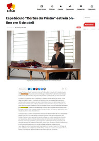 """espetáculo """" Cartas da Prisão"""" estreia dia 5 de abril online"""