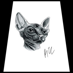 🐱Would love to tattoo this! ._._._._._.