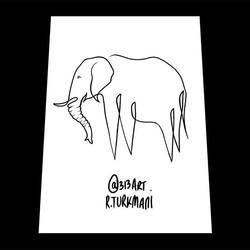Elephant single line